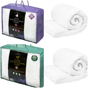 Luxury Hotel Quality Goose or Duck Feather/Down Duvet Quilt 13.5 All Sizes New