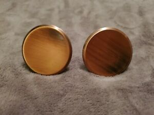 VINTAGE PAIR OF BRUSHED COPPER KNOBS - NEW OLD STOCK