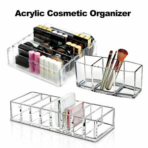 Clear Cosmetic Organizer Acrylic Makeup Drawers Jewelry Holder Case Box Storage