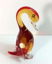 Archimede Seguso Murano Glass Duck Sommerso