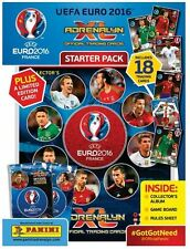 Panini Euro 2016 Soccer Card Starter Kit w/Album,18 Cards + RONALDO  Ltd Edition