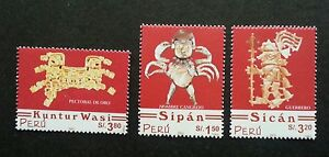 Peru Pre-Columbian Artifacts 2001 2002 Ancient Art Culture Heritage (stamp) MNH