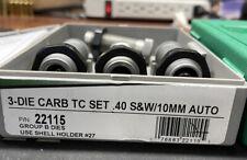 Rcbs 40 S&W / 10 Mm 22115 3 Die Set with Taper Crimp 22162 Total 4 Dies