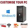 Dell Optiplex PC Core i5 i7 16GB RAM 2TB HDD SSD Windows 10 Desktop Computer