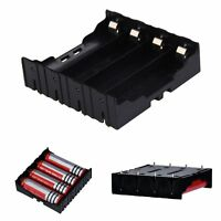 New 4 Cell Battery Box Storage Case Holder BH-18650 in Parallel 3.7V Pole Black