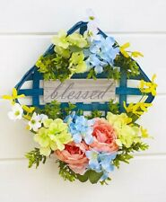 Vintage Style Blessed Tobacco Basket NEW Country Farmhouse Wreath Door Decor