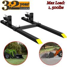 60 1500lbs Tractor Pallet Forks Clamp On Bucket Attachment Loader Skid Steer Us