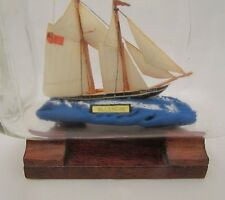 "Antique SHIP IN BOTTLE ""BLUENOSE""  schooner HAND-CRAFTED RARE COLLECTABLE ITEM"