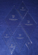 Quilt Templates-60 Degree Diamond Set-2,3,4,5,6,7,8.- 7 Piece Set-Acrylic -1/4""
