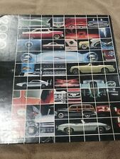 """Rare Springbok 2000-pc Large Jigsaw Puzzle 24 Classic Cars, 34 x 42.5""""  complete"""