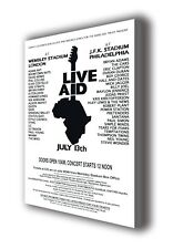 "Live Aid - Wall Canvas - 25""x16"" (63x40cm)"