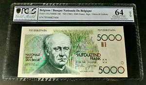 BELGIUM 5000 francs ND(1982) Pick# 145a PCGS 64 OPQ UNC!