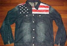 Dsquared Us Flag Old Glory Stripes Stars Distressed Women Dark Blue Denim Jacket