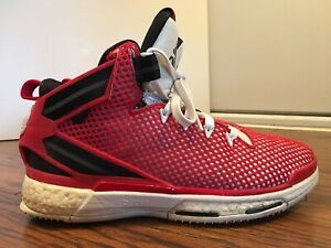 Adidas D Rose 6 Boost, Art No: F37129, Red/White/Black, Men's Size 9.5
