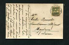 Schweiz - Portogerechte EF von 1917 auf Ansichtskarte   (#1891)