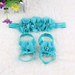 Newborn Baby Kids Girls Flower Headband Hair Band Headdress Foot Flower A05