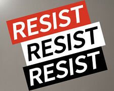 "RESIST Bumper Sticker / Removable / 10"" x 3"" / Anti Trump Resistance Dump Trump"