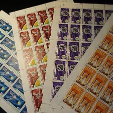FEUILLE SHEET NIGER POSTE AÉRIENNE PA N°58/61 x25 ESPACE SPACE 1966 NEUF ** MNH
