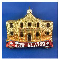 Alamo San Antonio Texas Western Blown Glass Christmas Tree Ornament Travel 190