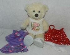 "Build-A-Bear Workshop 16"" Beige Teddy Bear 3 Outfits & Shoes Girl"