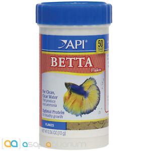 API Betta Flakes 0.36oz. Color Enhancing Betta Fish Food Flakes