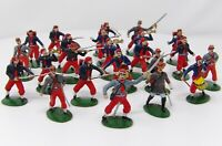 Vintage Merten 40mm ACW Zouaves, with Confederate Leaders.
