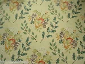 Sanderson Curtain Fabric POMONA 2.4m Red/Green Linen Blend Design 240cm