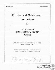 Corsair F4U-5 1940's historic maintenance manual Chance Vought WW2 F4U RARE