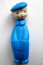 1960s Ussr Russian Soviet Plastic Toy Boy in Blue Beret Author Lev Smorgon