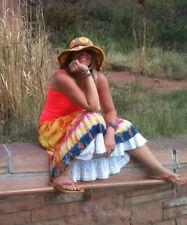 Grace Hats Coachela Floppy Brim Flower Power SUN HAT Straw Hippy Man Burning