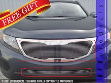 GTG Polished 2PC Combo Billet Grille Grill Kit fits 2011 - 2013 Kia Sorento