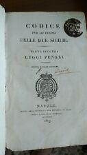 """1819 Codice per lo Regno Delle Due Sicilie """" parte seconda"""