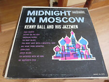 """KENNY BALL And His JAZZMEN~""""Midnight In Moscow"""" LP~  1962~KAPP~MONO~ KL-1276"""