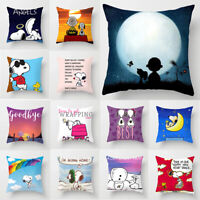 Home Decor Cute Snoopy Pillow Case Car Bedroom Sofa Pillowcase Dog Cushion Cover
