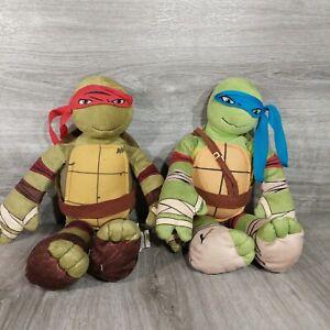 """Teenage Mutant Ninja Turtle 16"""" Plush Raphael/Leonard Lot Nickelodeon Northwest"""
