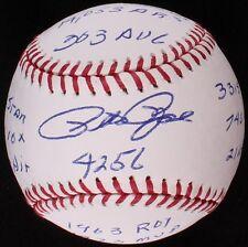Pete Rose hand signed Rawlings Official Major League Baseball /15 inscriptions