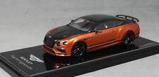 Truescale Bentley Continental Supersport in Onyx over Orange 2017 TSM430280 1/43