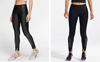 Nike Womens Power Speed Reflective Running 7/8 Tights Black Size XS BV3272-010