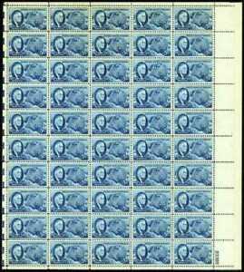 US Stamp 5c 1946 Roosevelt & Four Freedoms - 50 Stamp Sheet #933
