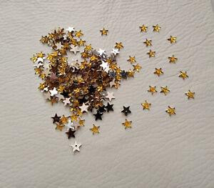 200 x 6mm Flat back Stars in Topaz