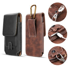 Leather Case Pouch Belt Loop Holster For iPhone11 Pro Xs Max 8 7 6 Plus Samsung