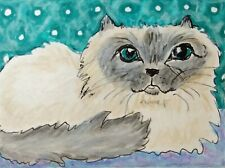 Himalayan Daydream 8 x 10 Cat Art Giclee Print Collectible Signed Artist Ksams