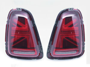 UK LED Tail Lights For 2006-2009 Mini Cooper R56 R57 R58 R59 - UNION JACK RED