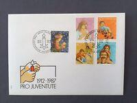 SWITZERLAND FDC 24.11. 1988 HELVETIA  Pro Juventute 1912-1987