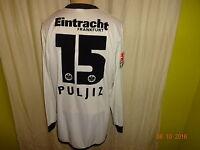 Eintracht Frankfurt Jako Langarm Matchworn Trikot 2005/06 + Nr.15 Puljiz Gr.M/L