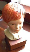 Cybis Head Jeremy Porcelain Bisque  Red Headed Boy