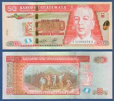 Guatemala 50 Quetzales 2012 (2014) UNC P. NEW