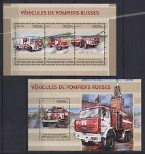 Guinea 2013 - Feuerwehr Leiterwagen Löschfahrzeuge Fire engines Trucks Pompiers