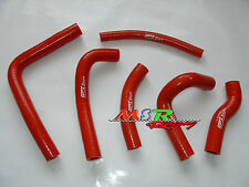 for 2000 2001 Honda CR250R CR 250 R silicone coolant radiator hose kit red