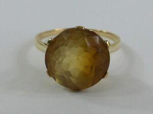 Alter Goldring Damenring Steinbesatz Schmuckstein 585er Gold 14 Karat